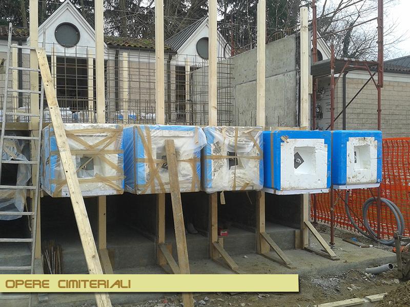 Su commissione del comune di Mogliano Veneto, l'impresa Sernagiotto Angelino costruzioni ha realizzato una struttura cimiteriale.