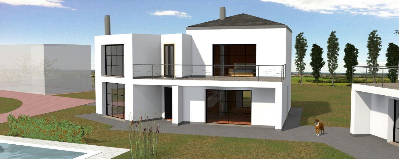 Costruzione di due abitazioni private a Povegliano in provincia di Treviso.